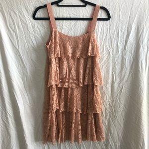 Lace light pink dress